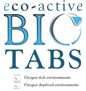 Eco-active Biotabs sludge biodegrader and helps with sludge treatment and sewer drain cleaning. A product of Dekker Biotech, South Africa